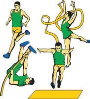 Sportereignisse Vektor-Illustration vektor