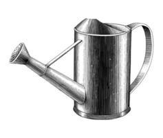 Vintage Wasser kann Hand zeichnen Gravur Illustration Schwarz-Weiß-Kunst lokalisiert auf weißem Hintergrund vektor