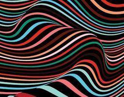 das bewegte schwarze und farbige Streifenhintergrundbild vektor
