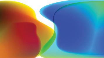 buntes Hintergrundbild mit überlappenden Mischungen vektor