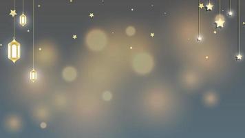 islamischer Hintergrund ramadan kareem, eid mubarak mit bokeh Lichtvektorillustration