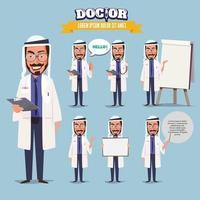 islamisk läkare i olika åtgärder