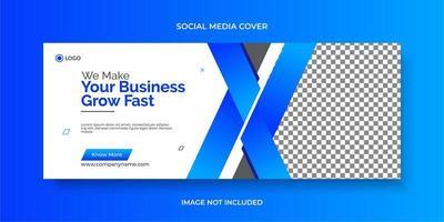 Corporate und Business Social Media Banner oder Cover-Vorlage mit abstraktem Formdesign vektor