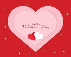 einfacher Valentinstag Hintergrundvektor