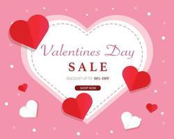 Alla hjärtans dag försäljning banner mall vektor