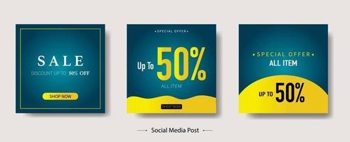 sociala medier postsamling vektor