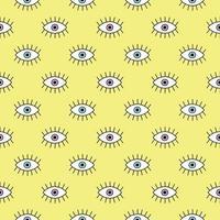 gelber Hintergrund mit Augen vektor