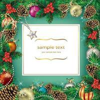 Weihnachtskarte Dekoration Vorlagen Hintergrund. Vektorillustration. vektor