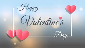 abstrakter Bokeh-Lichthintergrund des glücklichen Valentinstags vektor