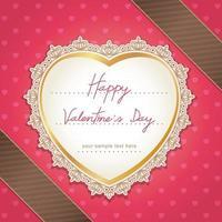 Valentinstag oder Hochzeitskartenentwurf. Vektorillustration.