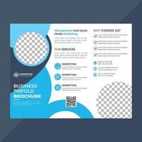 företagsverksamhet trippel broschyrmall vektor