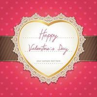 Alla hjärtans dag eller bröllopskortdesign. vektor illustration.