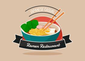 Unika Ramen-emblemsvektor
