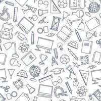 nahtloses Muster der Schulbildung vektor