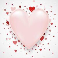 Valentinstag Konzept mit Herzen auf mit Kopierraum kann Ihren Text auf setzen. Verwendung als Grußkarte oder Banner-Vorlage als Design. vektor