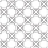 abstrakt blommig prydnad. sömlöst geometriskt mönster med virvellinje ornament i orientalisk stil. vektor