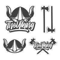 die Wikinger Handbeschriftung und Illustration vektor