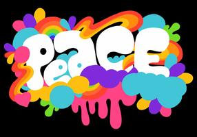 färgglada fredsbokstäver vektor