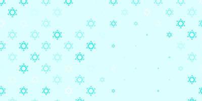 ljusgrön vektorbakgrund med covid-19 symboler. vektor