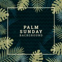palm söndag bakgrund vektor