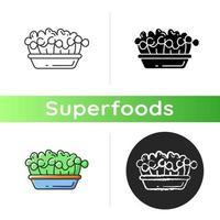 Microgreens Lebensmittel Symbol