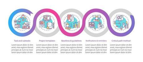 fjärr jobb verktygsstruktur vektor infographic mall