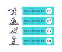 Workout-Metrik-Konzeptsymbol mit Text
