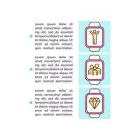 Familie verbinden Smartwatch-Konzept-Symbol mit Text