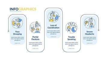 Gehirn Schlaganfall Vektor Infografik Vorlage
