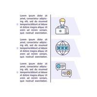 Reisebüro-Konzeptikone mit Text