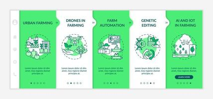 Landwirtschaft Innovation Innovation Onboarding Vektor Vorlage