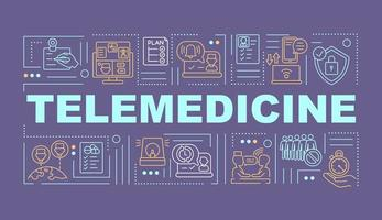 telemedicin ord koncept banner vektor
