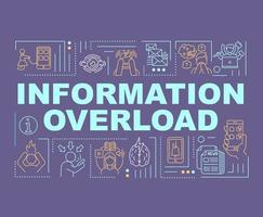 Informationsüberflutung Wort Konzepte Banner