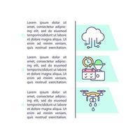 jordbruk innovation koncept ikon med text vektor