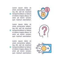 Datenschutz betrifft Konzeptsymbol mit Text