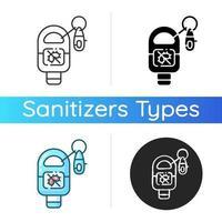nyckelring sanitizer ikon vektor