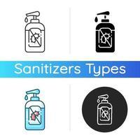 Pumpflaschen-Desinfektionssymbol