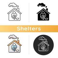 hemlösa skydd ikon vektor