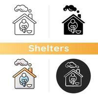 Obdachlosenheim Ikone