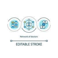 läkare nätverk koncept ikon vektor