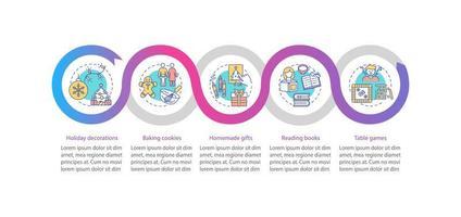 Weihnachtsferien Ideen Vektor Infografik Vorlage