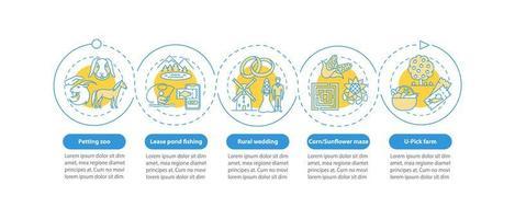 Infografikschablone des Agrotourismusvektors