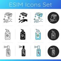 Icons für antibakterielle Desinfektionsmittel