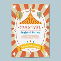 Karnevalsaffischmall Vector
