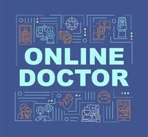 online läkare ord koncept banner vektor