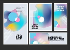Regenbogen-Hologramm-Hintergrund-Fahnen-Schablonen-Vektor