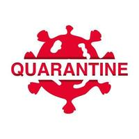 Stop Coronavirus Ausbruch oder Covid 19, Quarantäne Banner mit Virus vektor