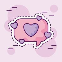 lapp pratbubbla med hjärta vektor