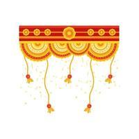 dekorativ krans för den indiska festivalen vektor