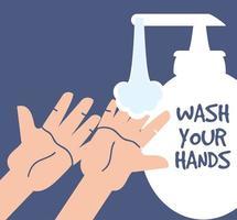 tvätta händerna med tvål och vatten